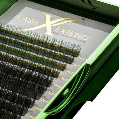 Ombre lashes black-green