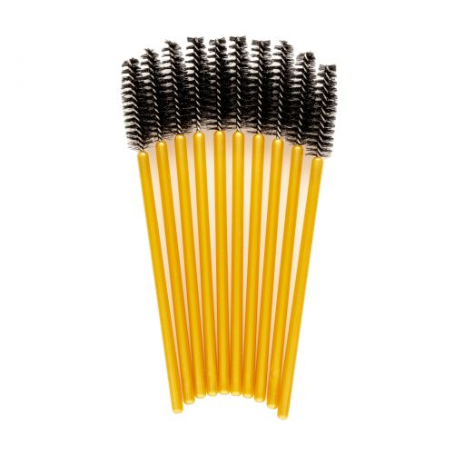 Lash eXtend mascara brushes - silicon tip recht - zwart / goud