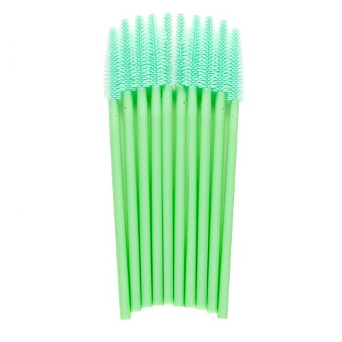 Lash eXtend mascara brushes - silicon tip recht - mint groen