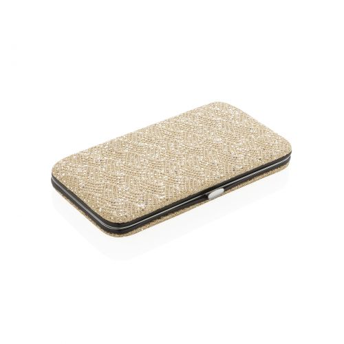 Luxury beauty pouch for tweezers - glitter