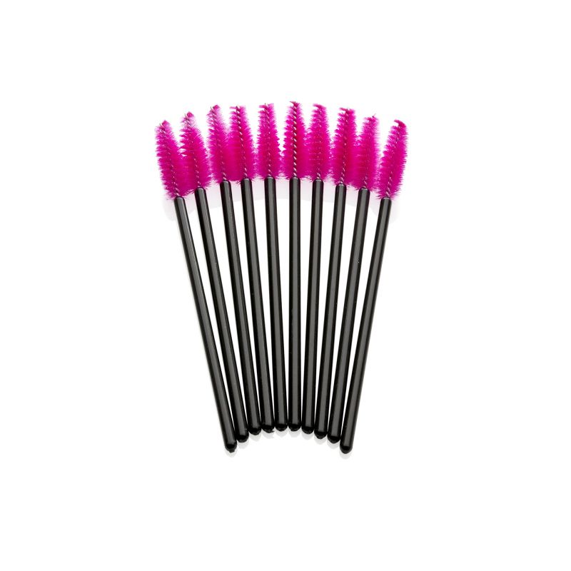 Lash eXtend mascara brushes - zwart / hard roze